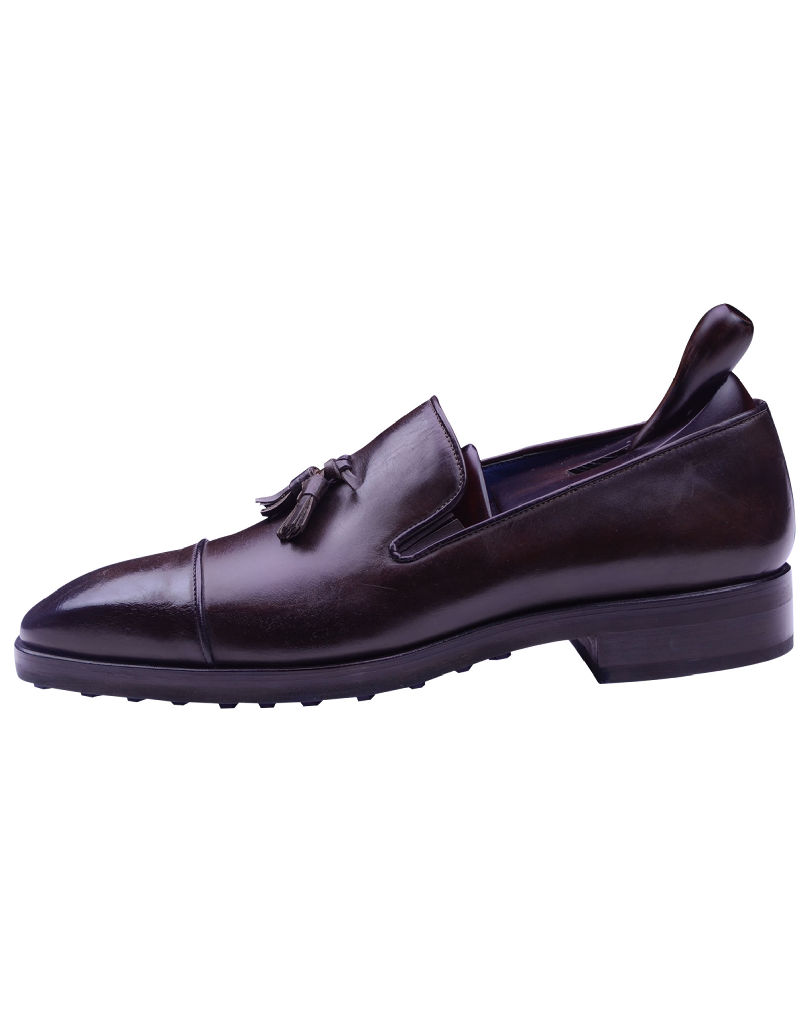 Angelo Galasso Signature Burnished Brown Loafer shoes-1
