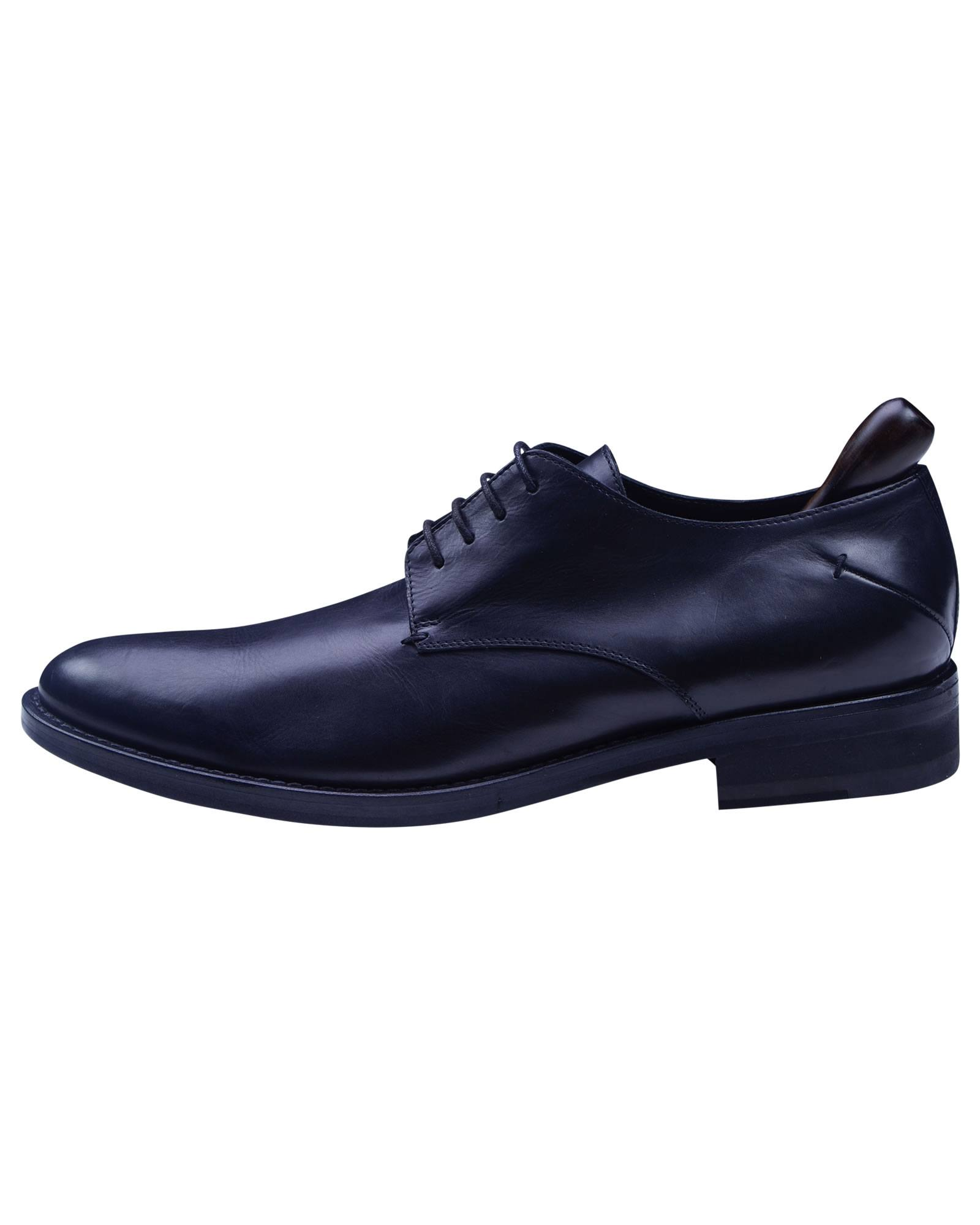 Costume National Black Color Calf Leather Handmade Lace Up Shoe -1