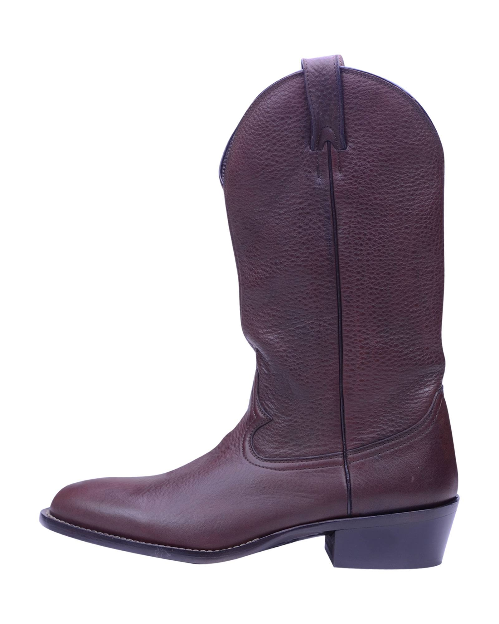 Angelo Galasso Signature Brown Leather Boots -1