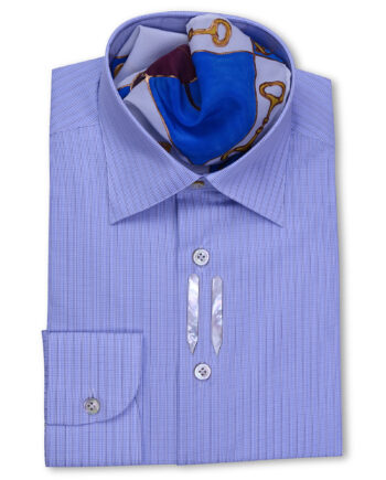 Classic Style Regular Fit Blue checkered Striped Shirts