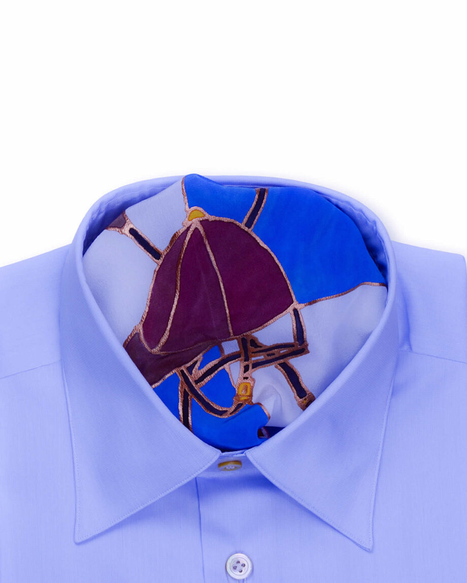 Tailored Fit Blue White Striped Luxury Shirt