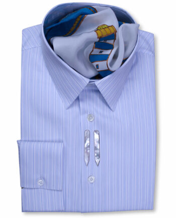 Classic Collar Tailored Fit Blue Multi Striped Shirts