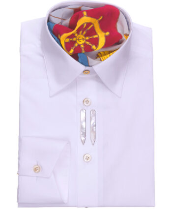Classic Style Tailored Fit White Dress Shirts