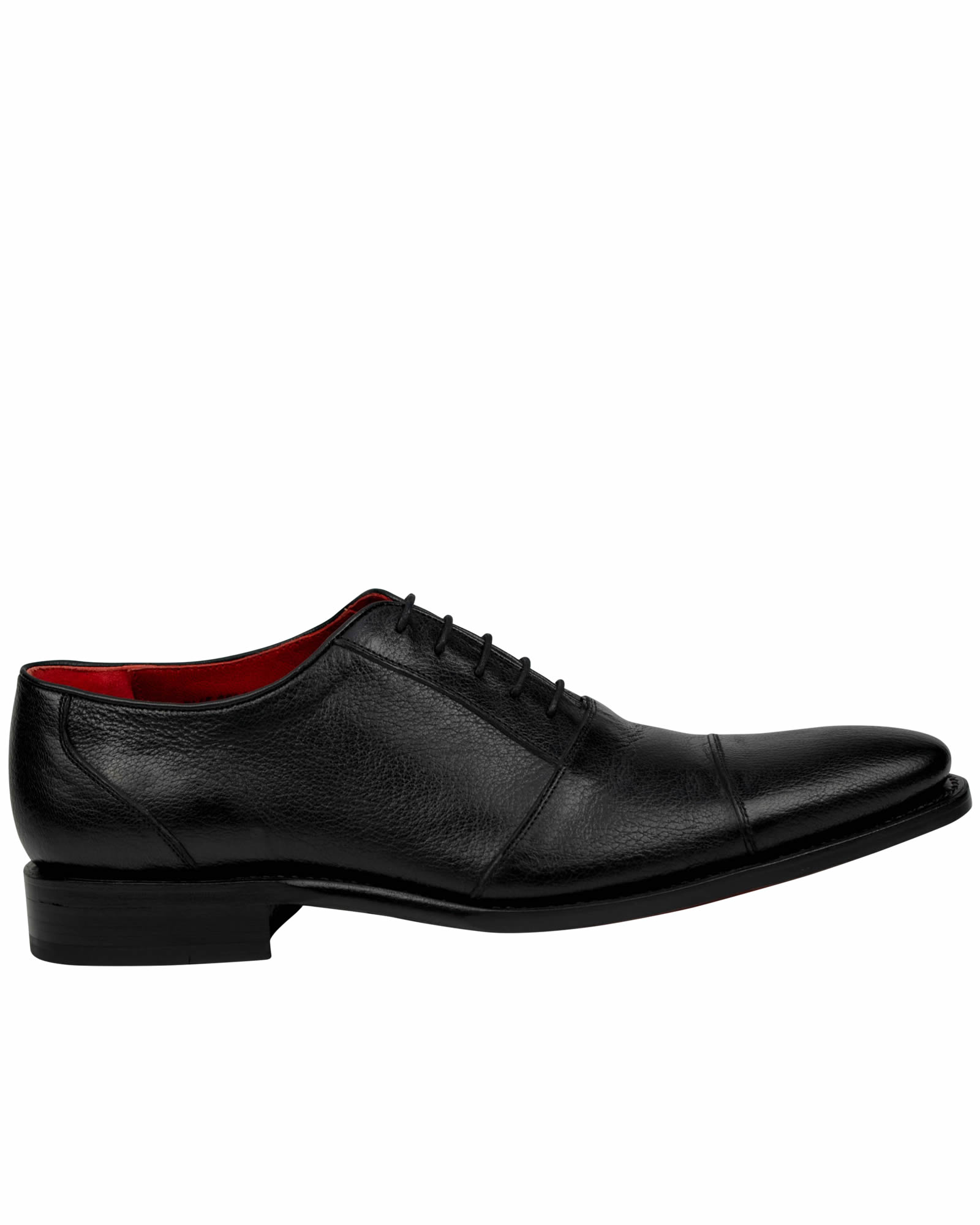 Goodyear Welted Lama skin Black Dress shoes