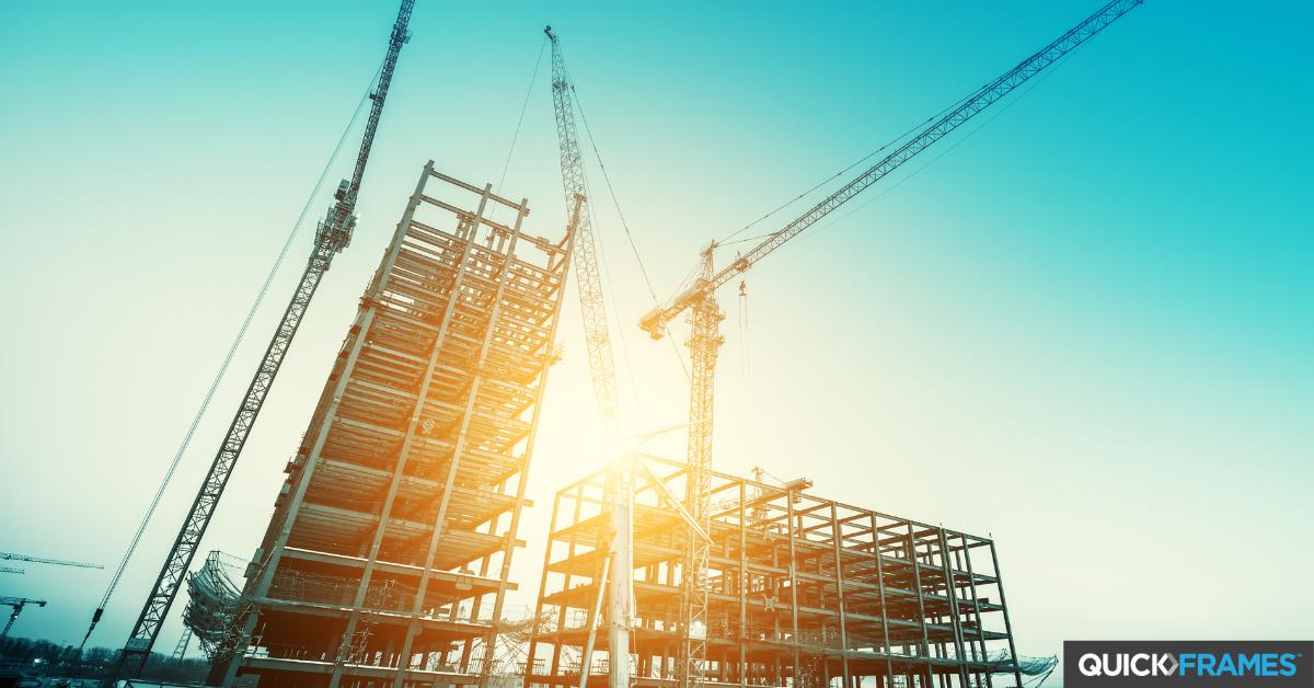 Crane construction building site - QuickFrames