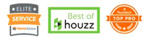 awards from Houzz, Thumbtack, and HomeAdvisor