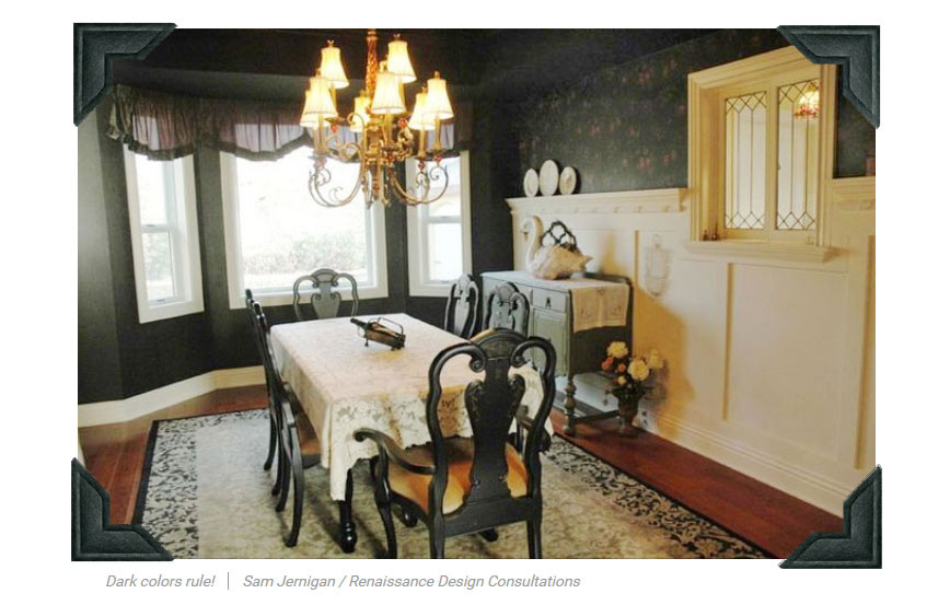 Sam Jernigan's own formal dining room in feature article on Realtor.com