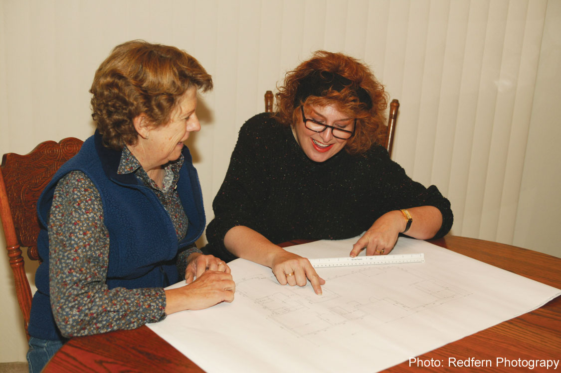 Designer Sam Jernigan Renaissance Design Consultations with client Nancy Lindberg