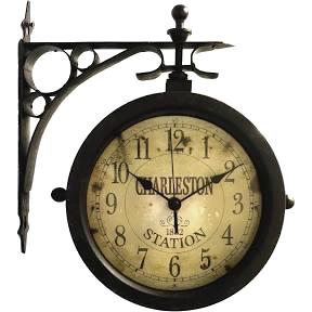 clock on transparent bknd