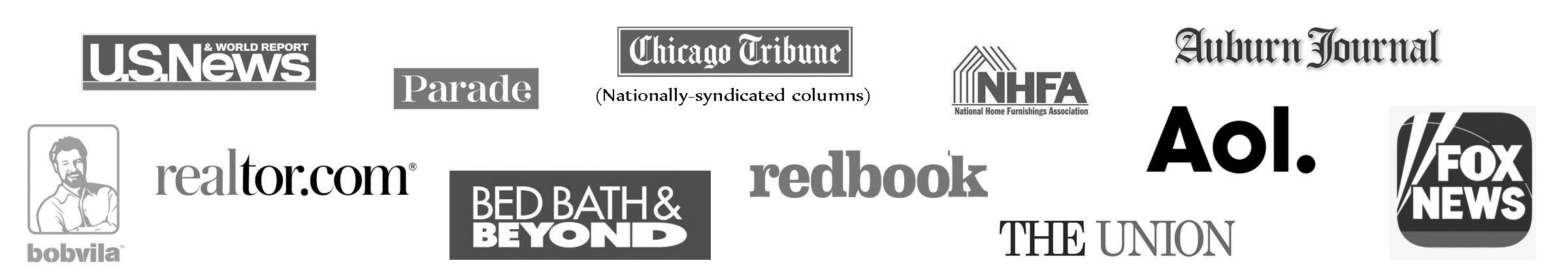 Sam Jernigan has been quoted as an interior design expert in national media including Realtor.com, Bed bath & beyond, US News, Chicago Tribune, Parade, Redbook, Fox News, BobVila.com, The Union Newspaper, Auburn Journal, et al.