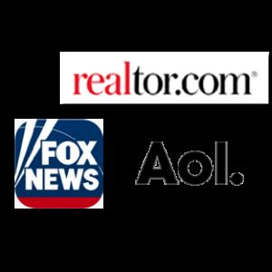 FoxNews logo, Realtor.com logo, AOL logo