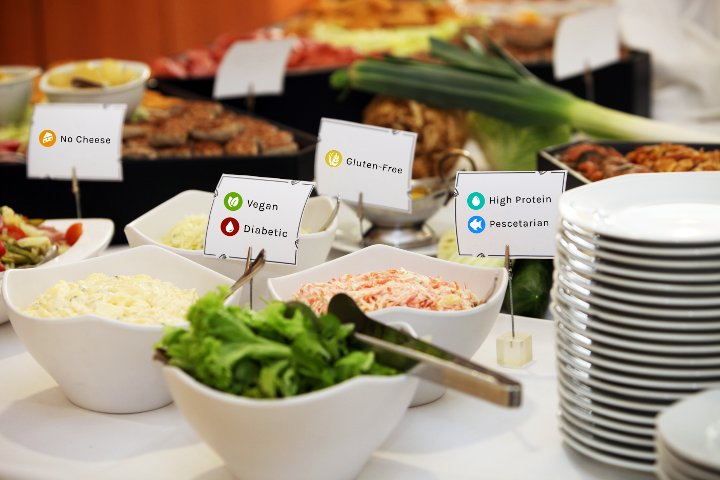 Food Labeling on a Buffet