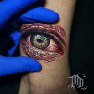 Best Realistic eye tattoo in Northridge, San Fernando Valley best MD Tattoo Studio California Mike DeVries