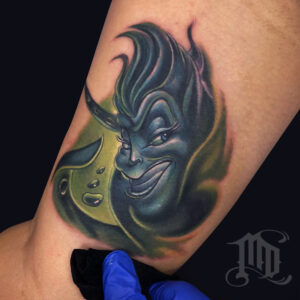 The Best Ursula tattoo in Northridge, San Fernando Valley best MD Tattoo Studio California Mike DeVries