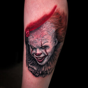 Best Color Pennywise Tattoo in Los Angels Kyle DeVries