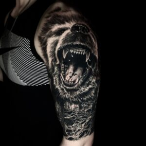 The Best Black And Gray Wolf Tattoo in Los Angeles Kyle DeVries