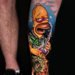 The Best Simpsons Homer Simpson Tattoo in Los Angeles Kyle DeVries