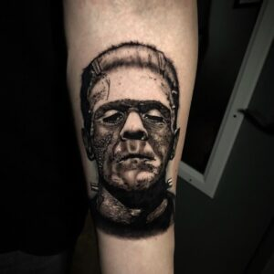 Best Frankenstein tattoo in Los Angeles Kyle DeVries