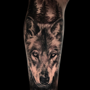 Best Wolf Tattoo In Southern California