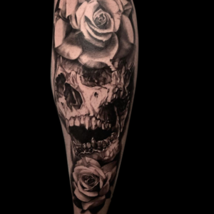 Best Black and Gray Skull Tattoo In Southern California