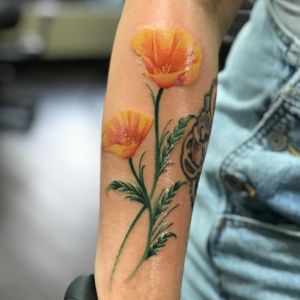 Best Color Flower Tattoos in Los Angeles