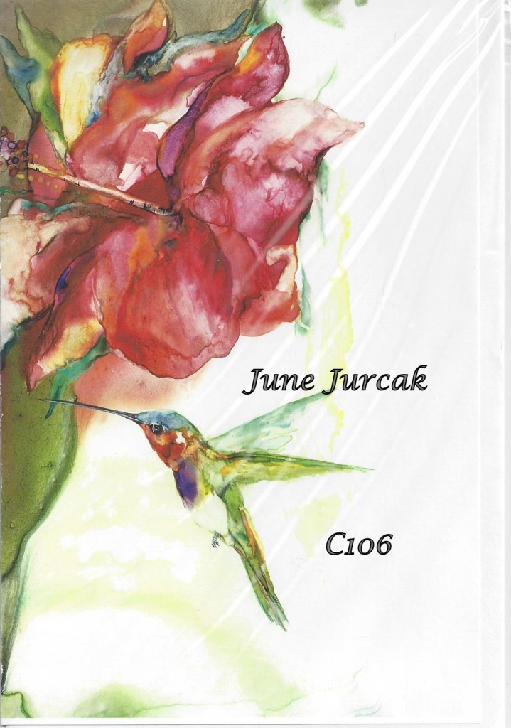 hibiscus and hummingbird c106