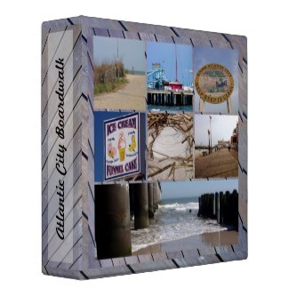 customized 3 ring binder of Atlantic City