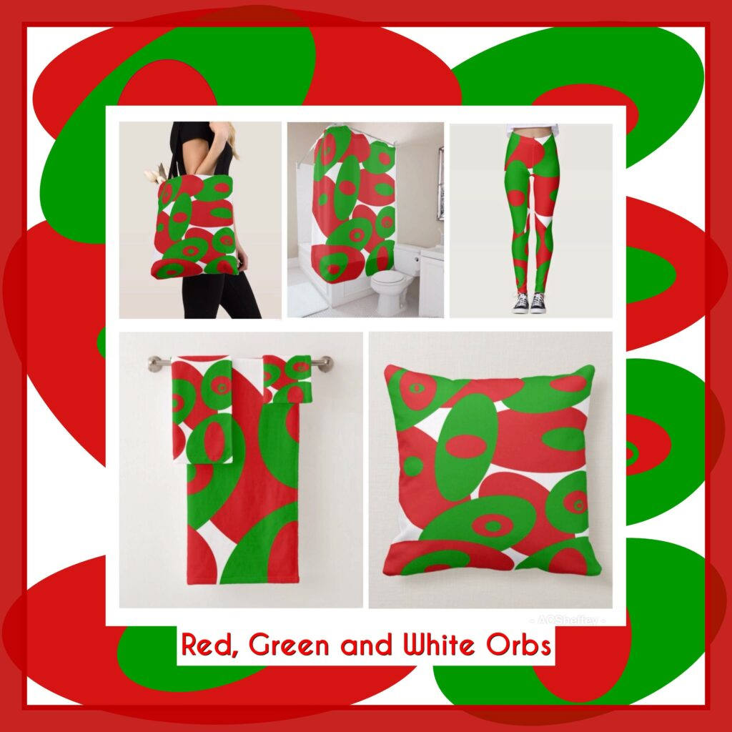 Red, Green and White fashion non-traditional Christmas color designs