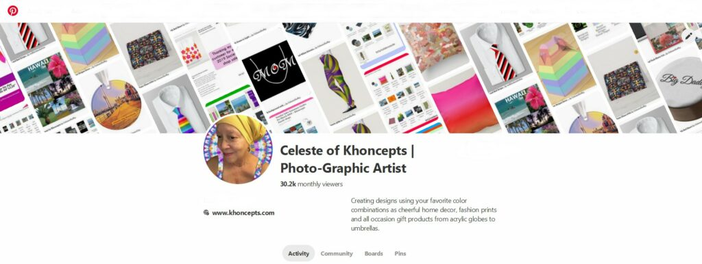 print on demand sales of Khoncepts viewed on Pinterest