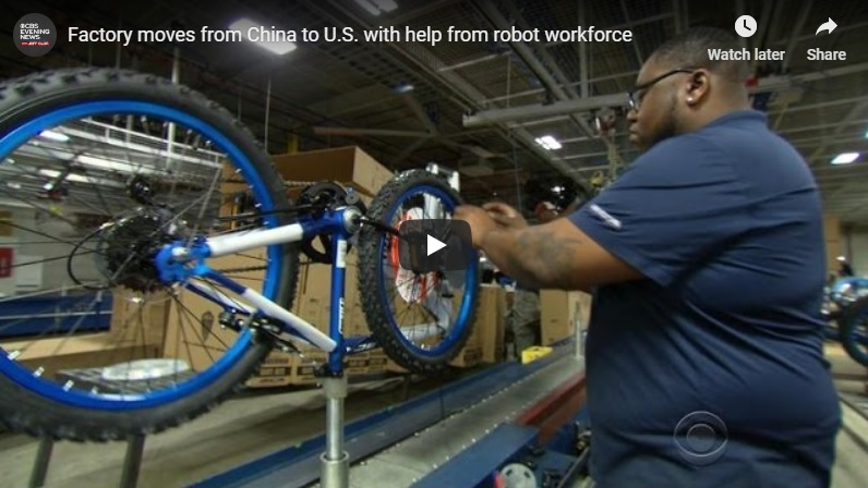 Robots help bicycle factory move from China to U.S.