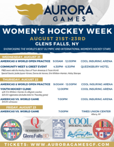 Aurora Games Women's Hockey Week @ Cool Insuring Arena