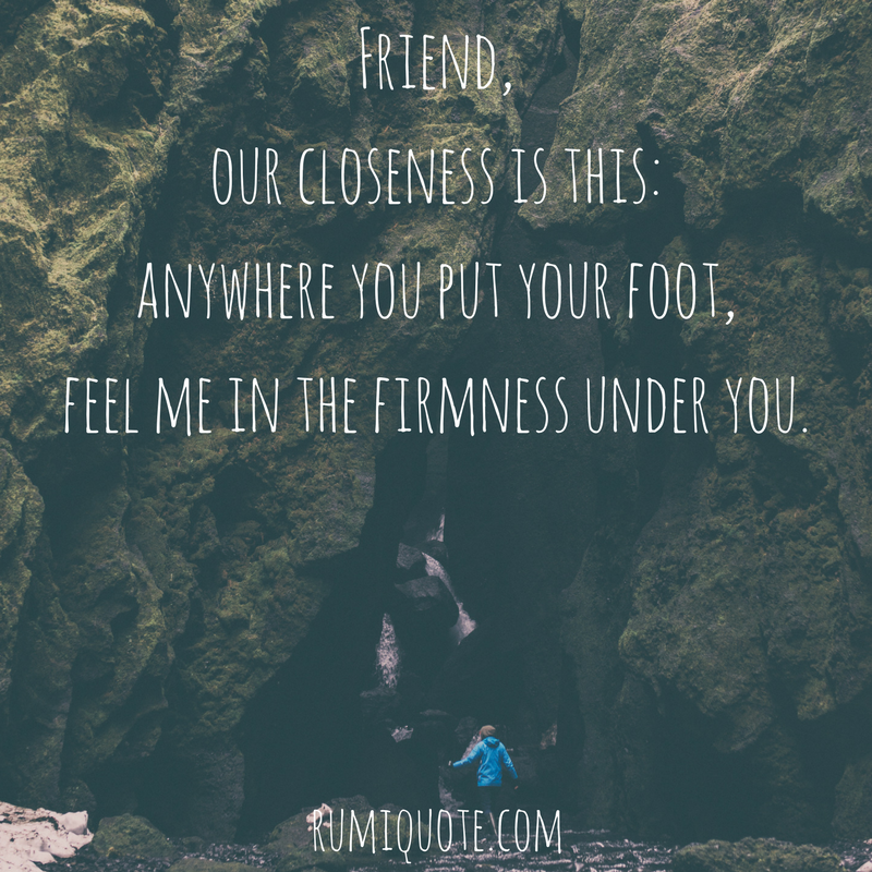Rumi the tent poem quote meaning
