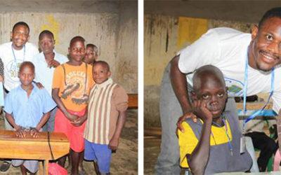 Daniel and Sharon at the Orphanage