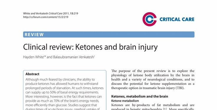 Concussion and TBI post 5 – Ketones and Calorie Restriction