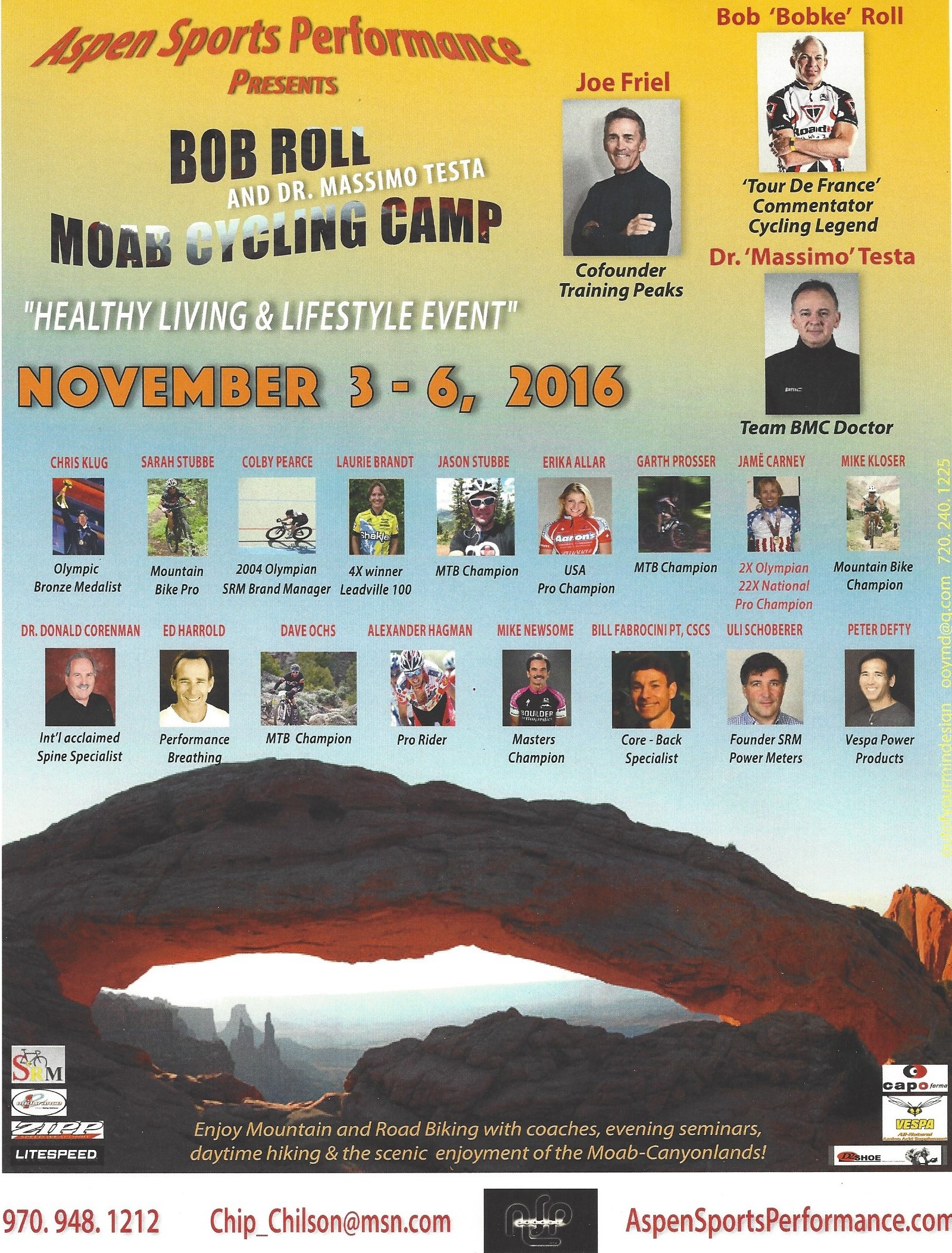 MOAB Cycling Conference November 3 to 6, 2016