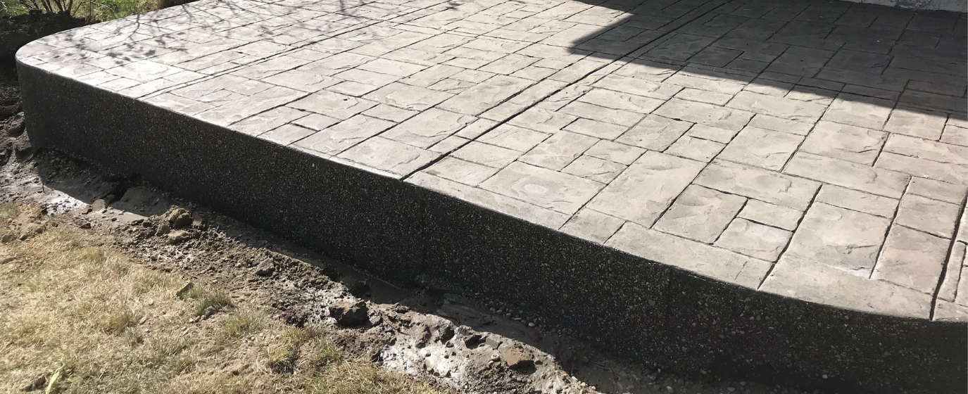 Calgary Stamped Concrete Patio