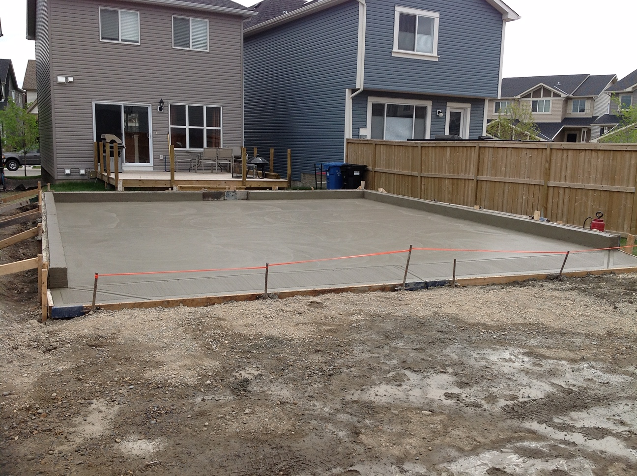 Calgary Parking Concrete Pad