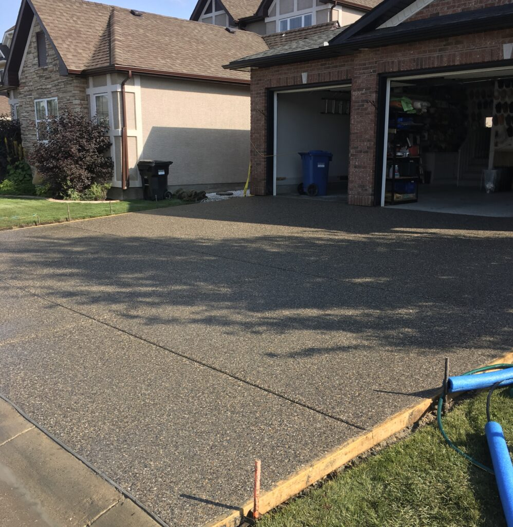 Calgary Driveway Exposed Concrete