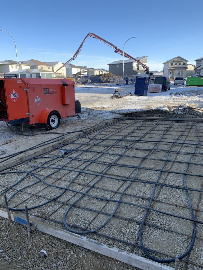 Ground Thaw Machine at Work in Calgary by C and J Construction