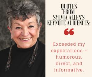 Sylvia Allen Testimonial