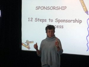 Sylvia teaching the powerful 12 Steps to Sponsorship Success