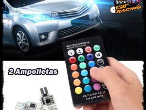 Ampolletas T10 Led Control Remoto