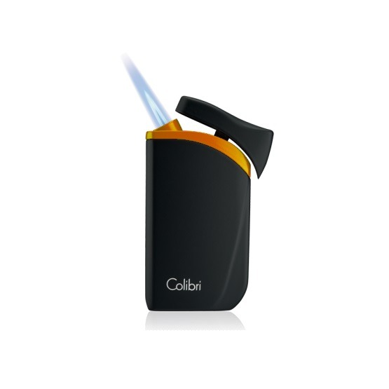 Colibri Falcon Single Jet Flame Cigar Lighter and Monza Cigar Cutter Gift Set - Orange