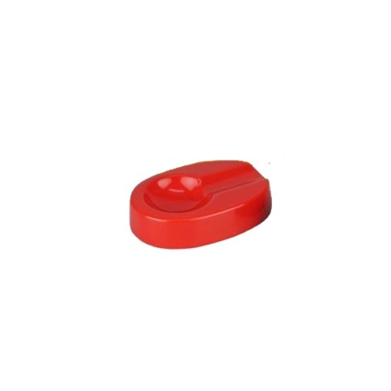 Colour Blast Ceramic Oval Single Rest Cigar Ashtray - Red