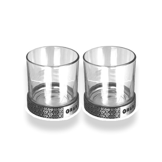 English-Pewter-11oz-Symetrix-Double-Glass-Tumbler-Set