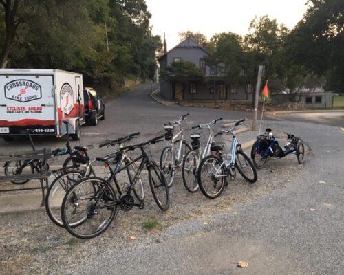 bikes and Crossroads trailer