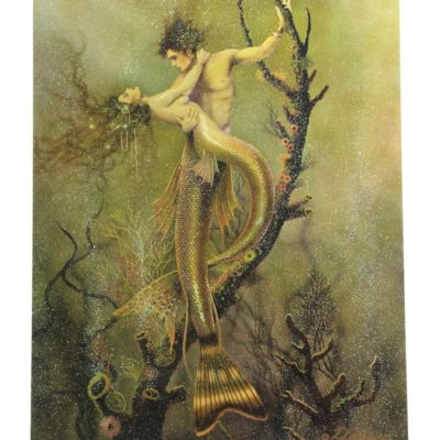 """11"""" x 14"""" Mermaid and Merman Lovers Full Color Print - David Delamare"""