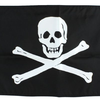 "18"" Double-Sided Pirate Flag Jolly Roger"