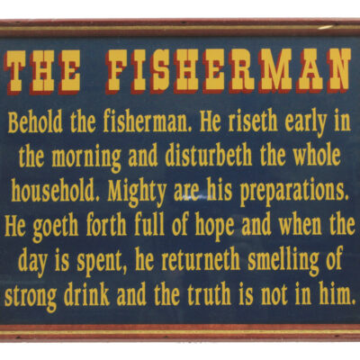 "12"" Behold the Fisherman Wall Sign"