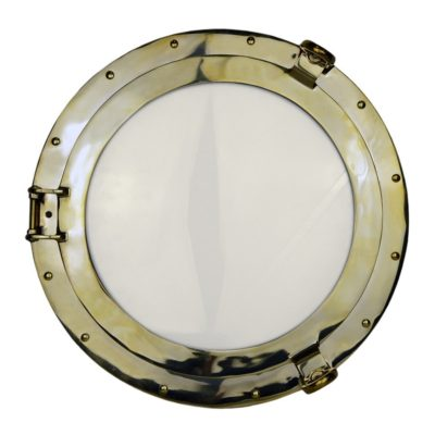 "17"" Solid Brass Wall Mount Porthole Window"